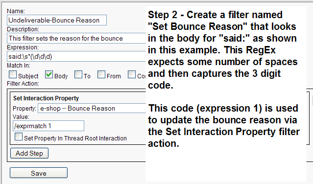 The Set Interaction Property filter